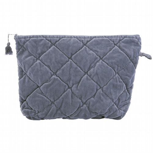 Cotton Velvet Washbag - Quilted - Various Colours Available